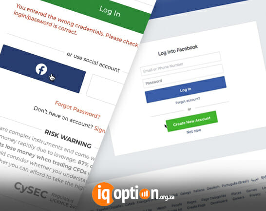 IQ Option login - Log into IQ Option Trading platform from the desktop browser, and through Facebook